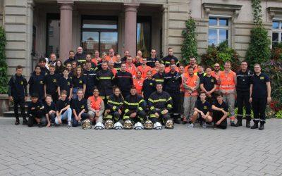 Exercice avec les pompiers volontaires